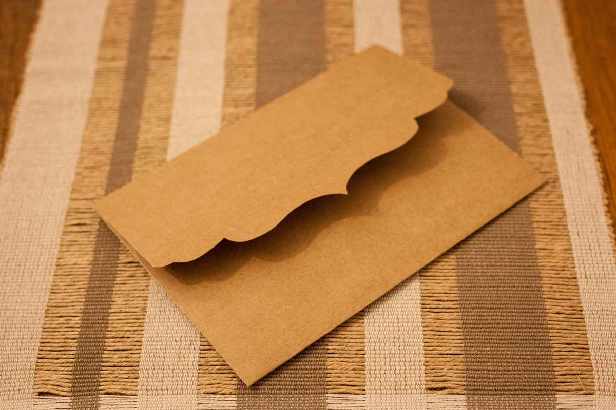 Comprar envelope para convite