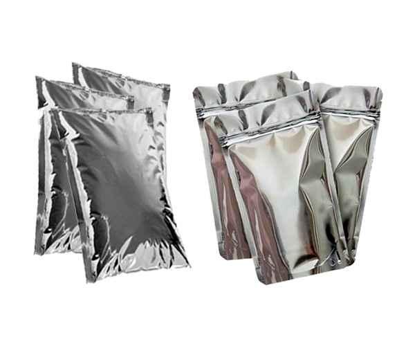 Embalagem flexível metalizada