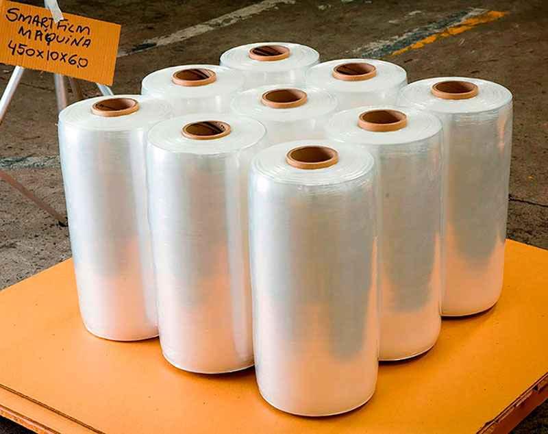 Embalagem plástica transparente flexível para indústria