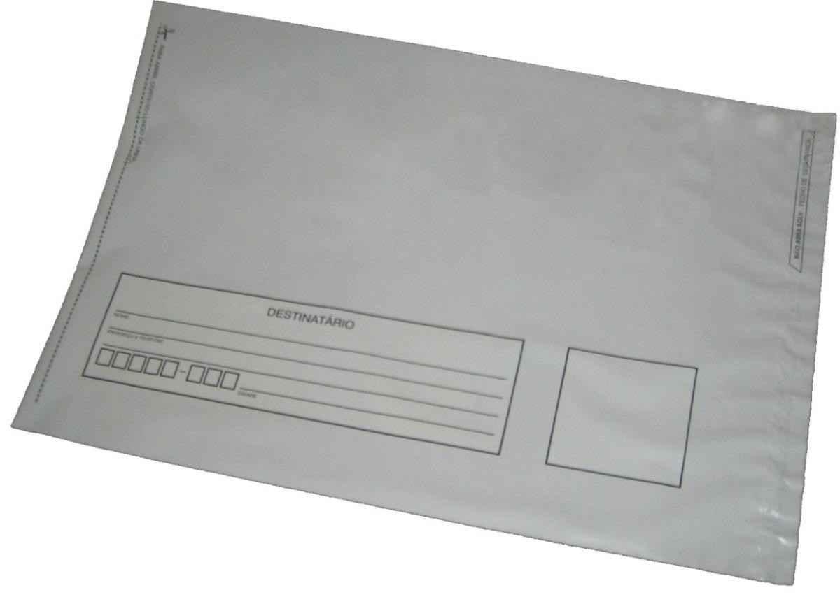 Envelope adesivado de correios em plástico