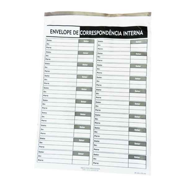 Envelope adesivado para correspondência interna