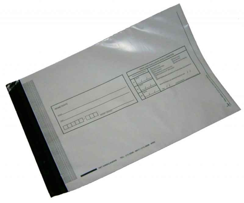 Envelope adesivo em plástico