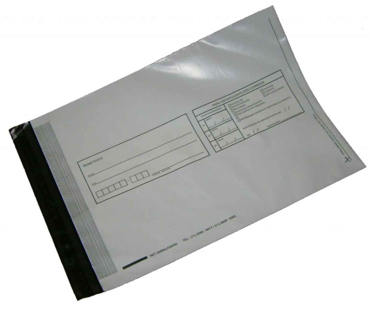 Envelope adesivo transparente