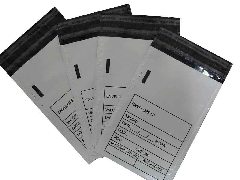 Envelope coextrusado branco de caixa