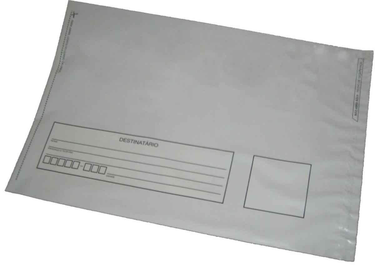 Envelope com aba auto colante de plástico
