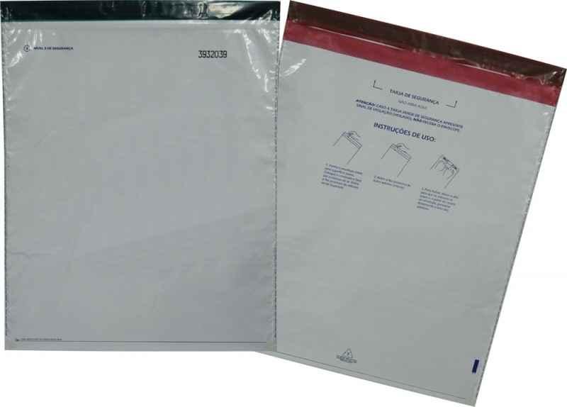 Envelope com fecho adesivos de empresa