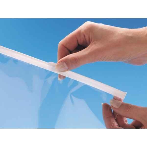 Envelope com fecho zip de plástico