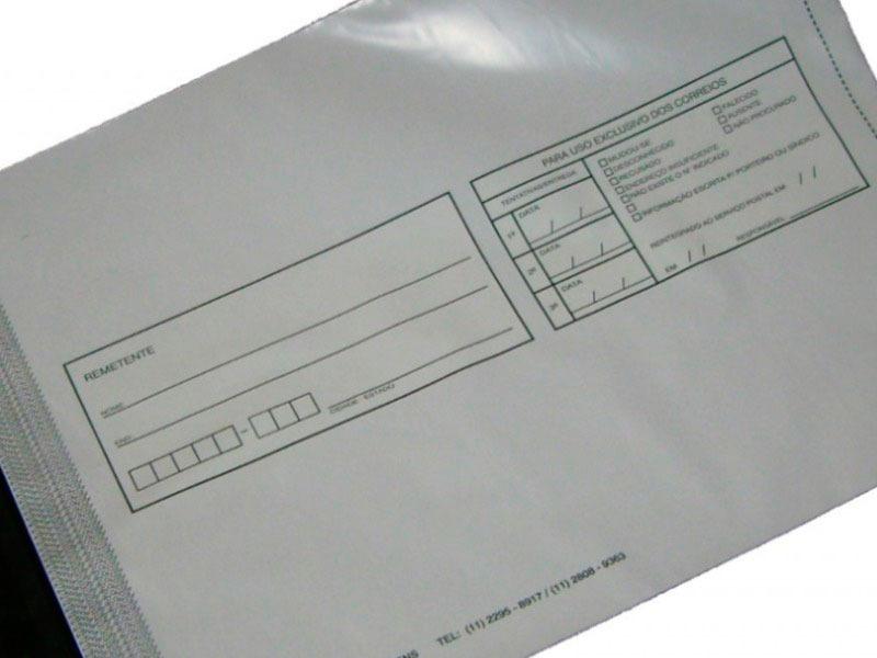 Envelope correios remetente e destinatário
