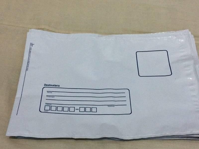 Envelope de plástico com aba adesiva no atacado