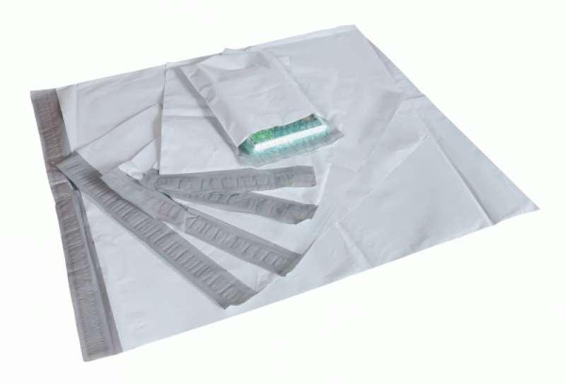Envelope de plástico com aba adesivo verde
