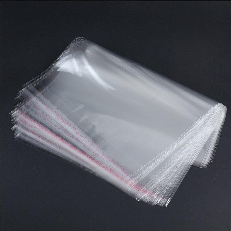 Envelope de saco transparente reforçado