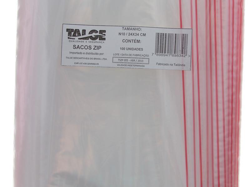 Envelope de segurança com fechamento zip
