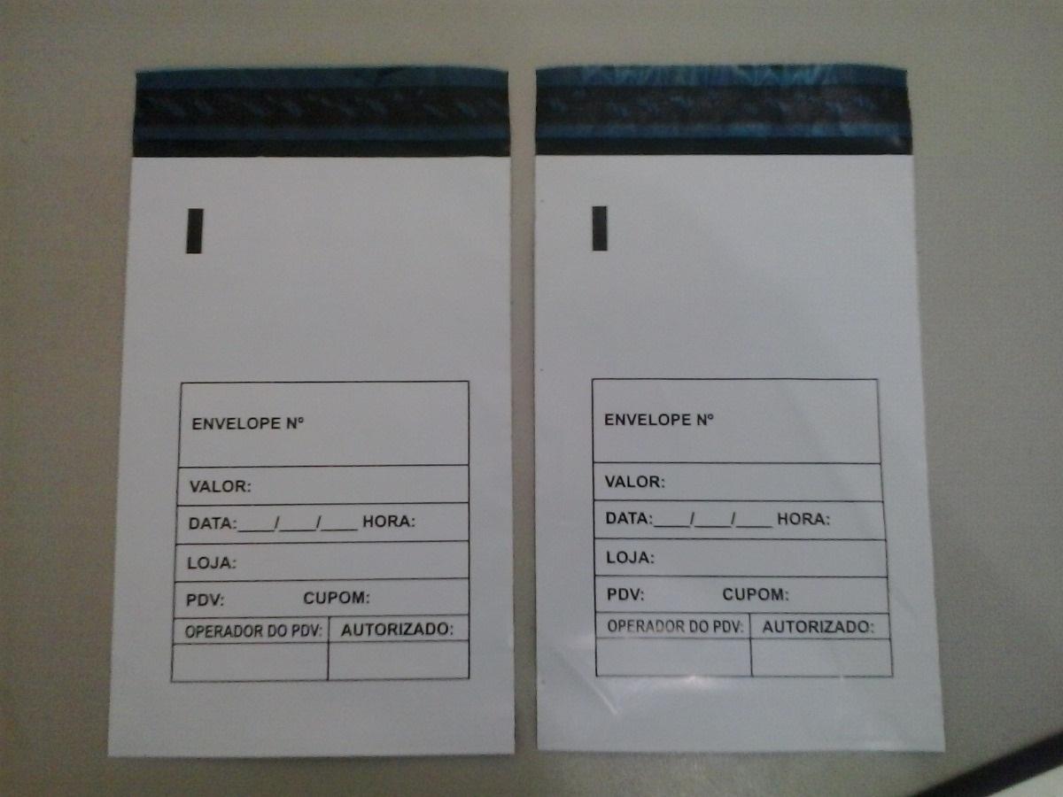 Envelope de segurança com numeração