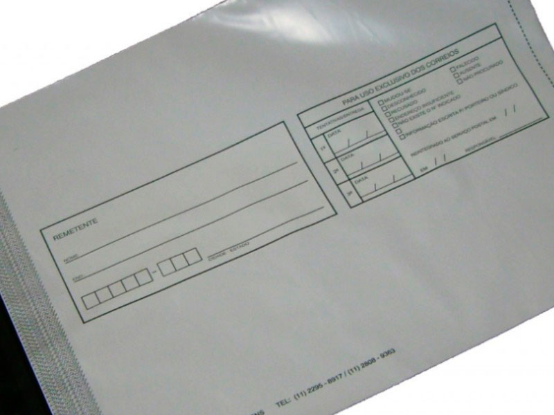 Envelope de segurança impressos