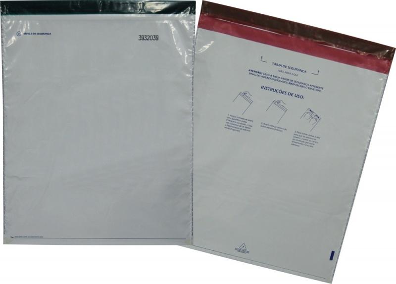 Envelope flexível com lacre de segurança