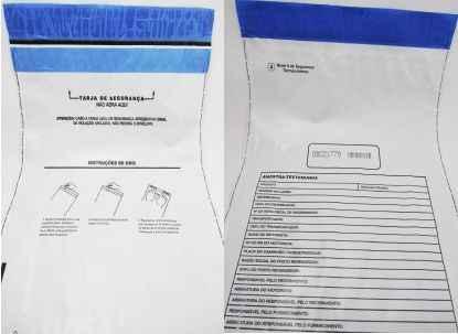 Envelope para coleta de amostra