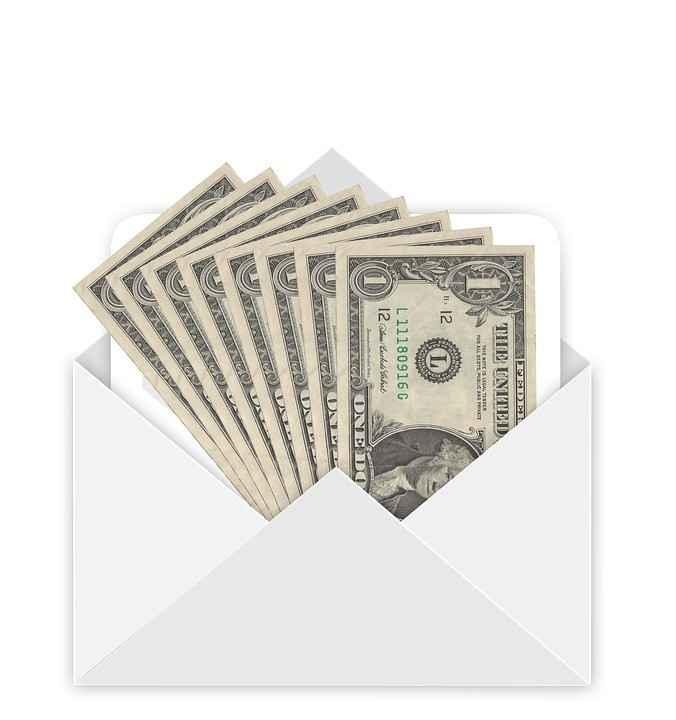 Envelope para dinheiro