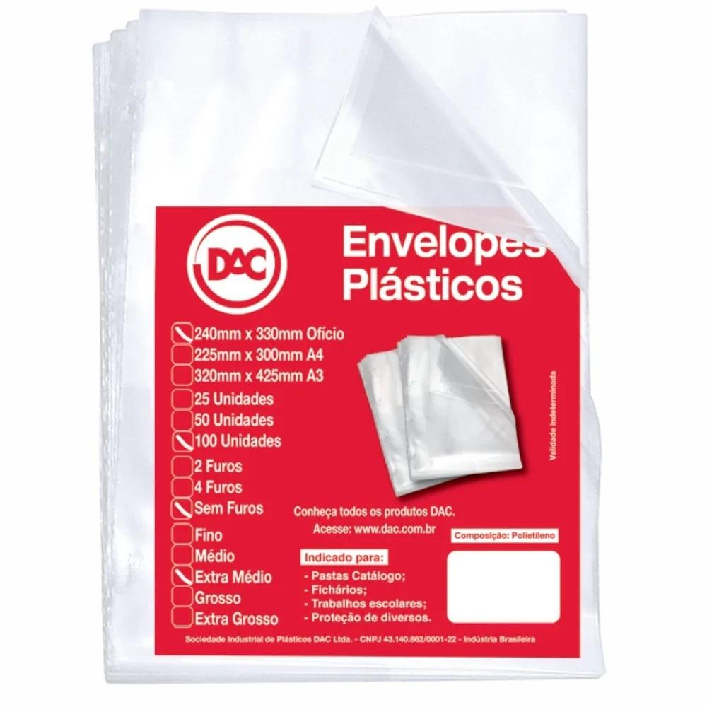 Envelope plástico meio oficio