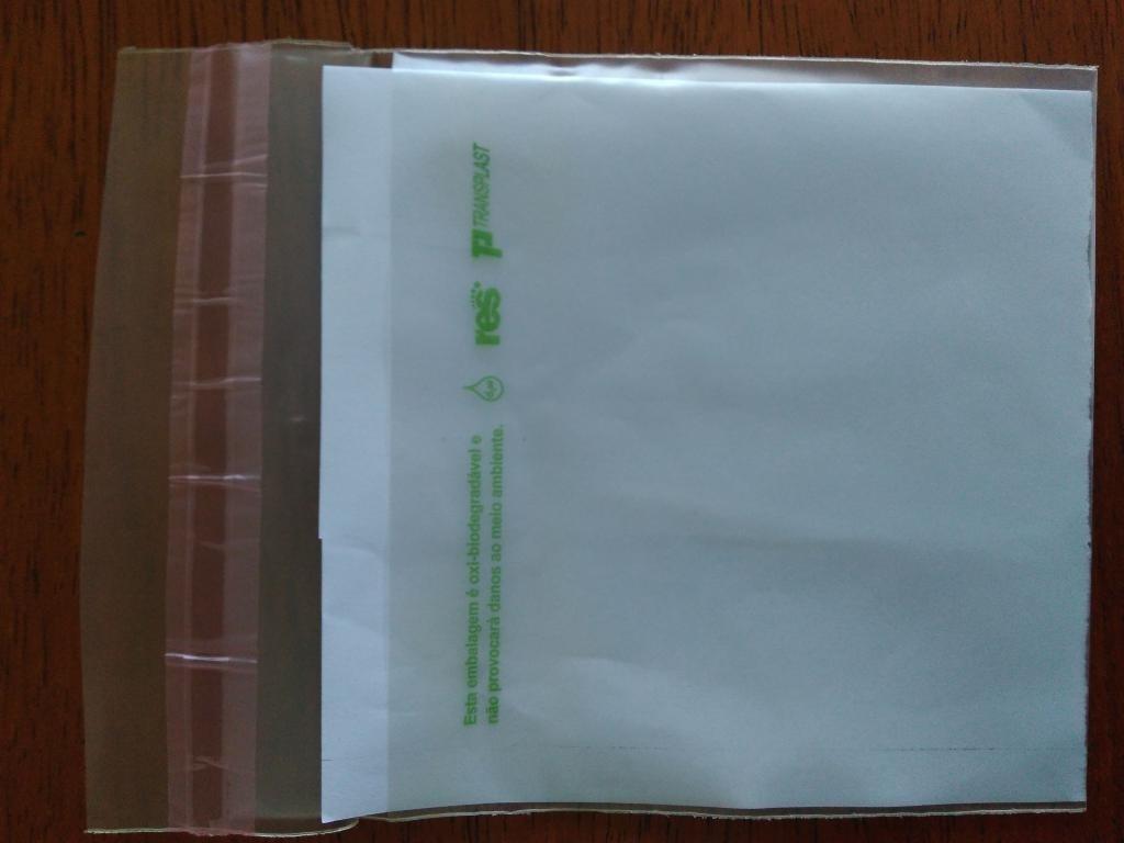 Envelope plástico oxibiodedradável