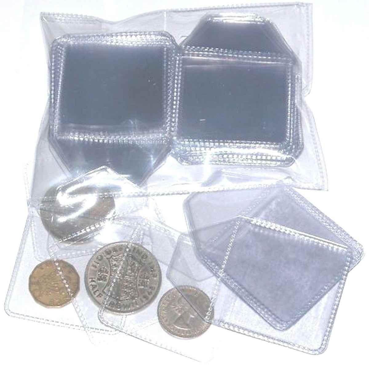 Envelope plástico para moedas