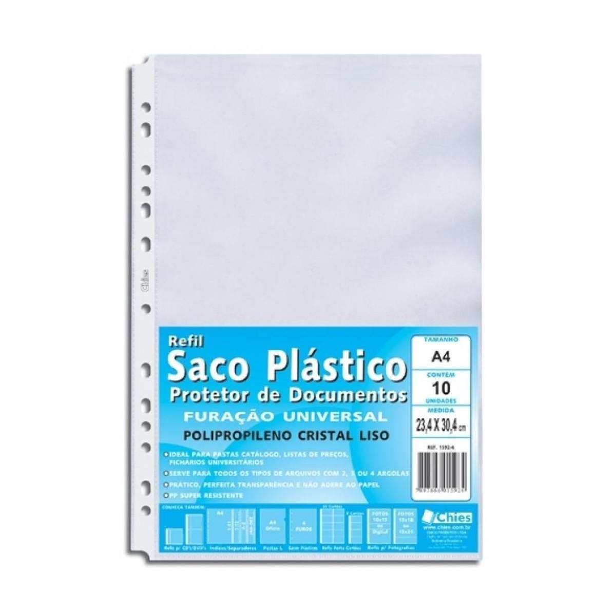 Envelope plástico para pasta catálogo