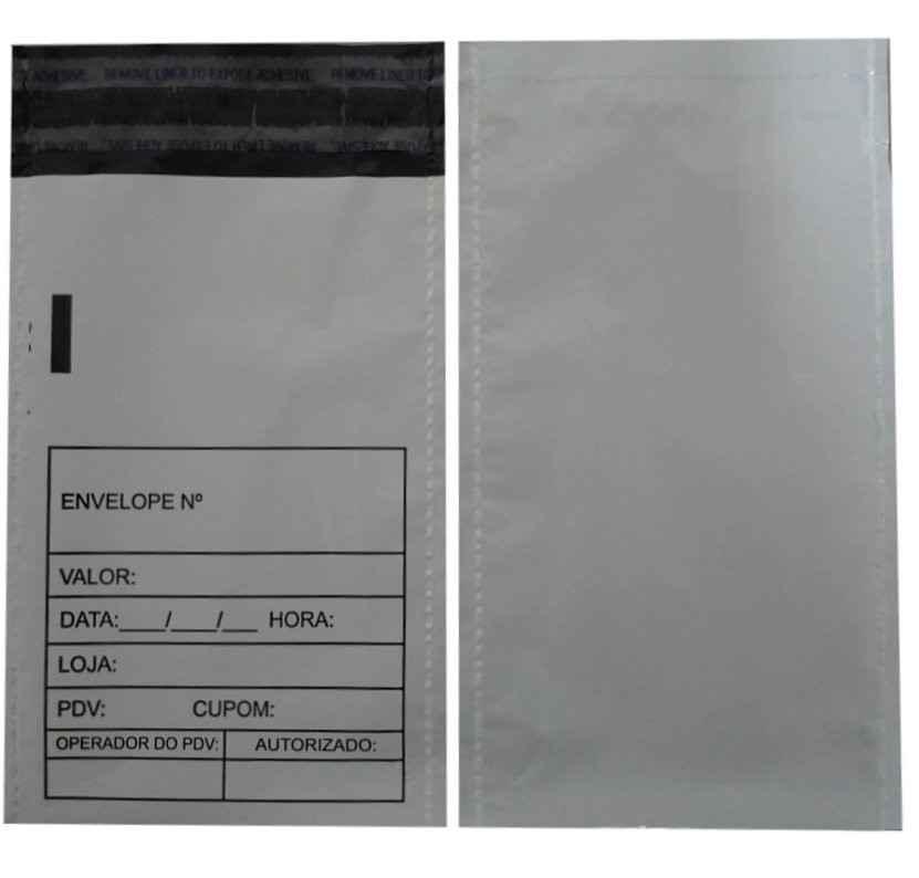 Envelope plástico sangria de caixa