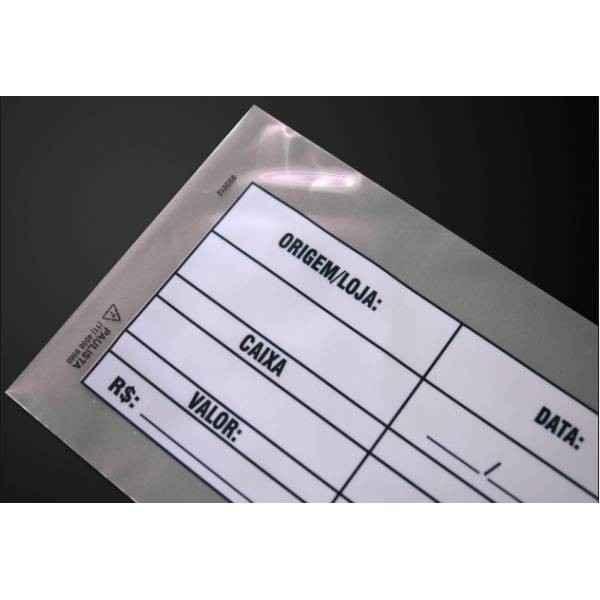 Envelope sangria de caixa com lacre inviolável