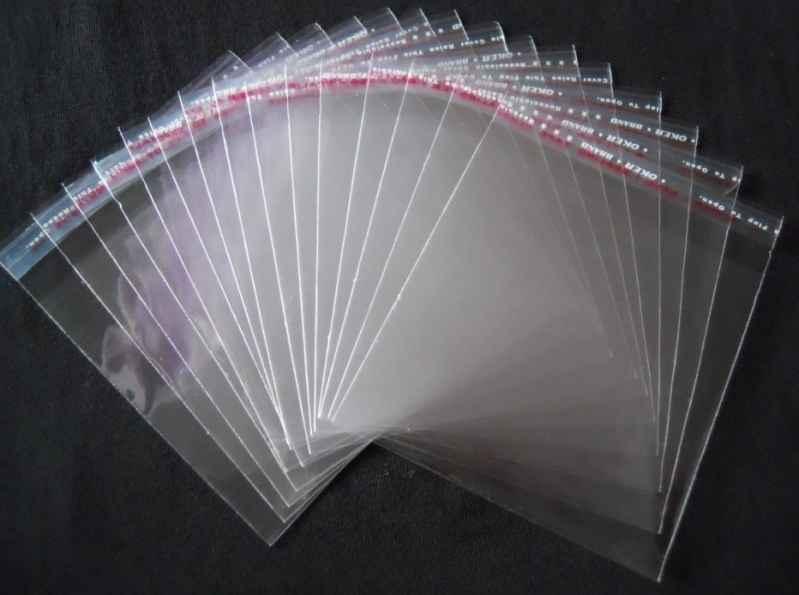 Envelope transparente com lacre
