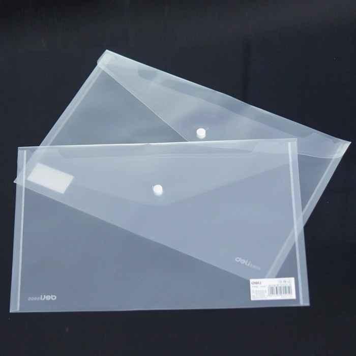 Envelope transparente para escritório