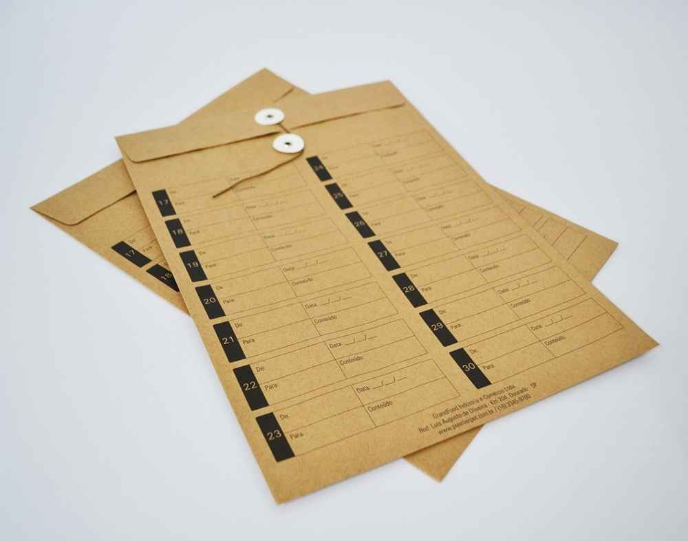 Envelope vai e vem de papel