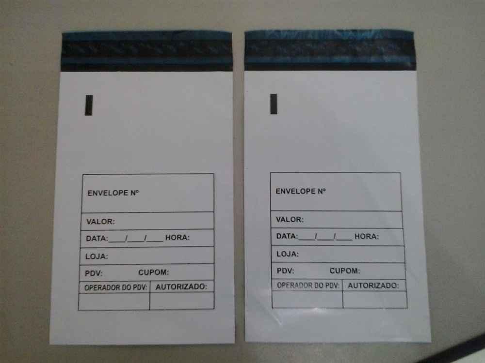 Envelopes para sangria caixa
