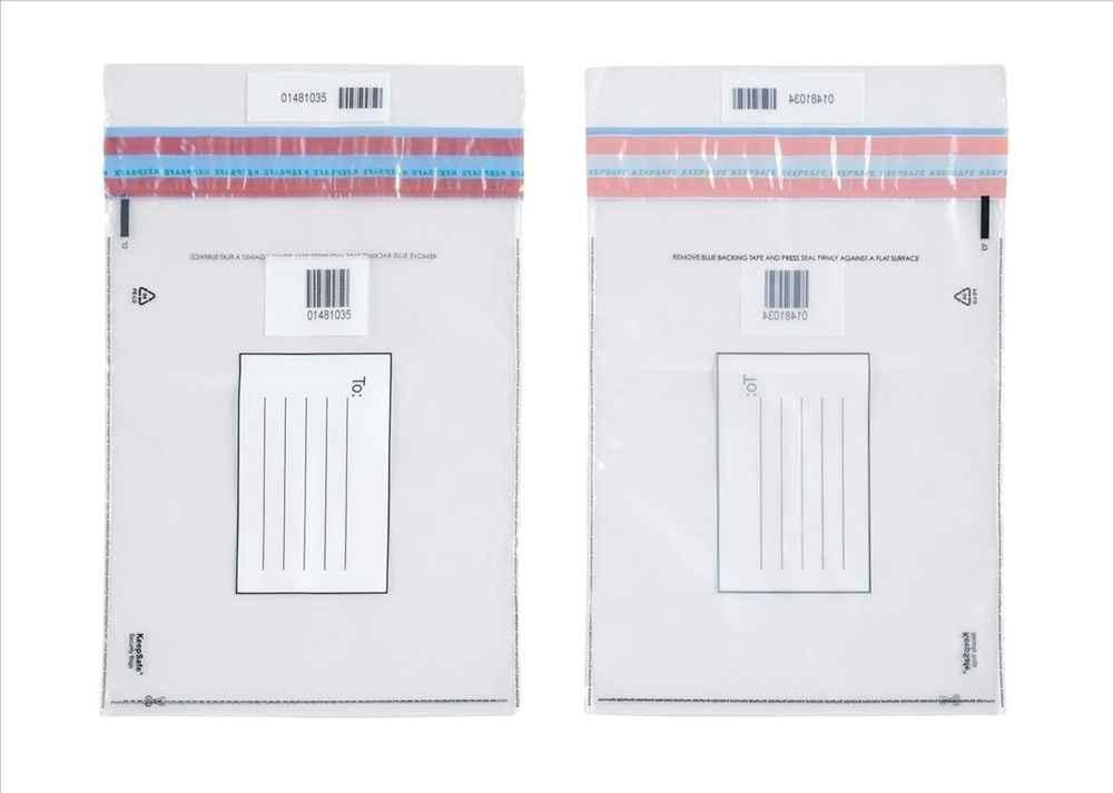 Envelopes segurança com fita adesiva permanente