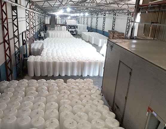 Fabrica de plástico bolha